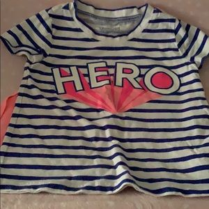 Hero Tee with cape 3t